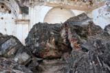 Giant pieces of rubble at La Recolección, Antigua Guatemala