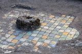 Tiles of the floor of a vanished building at La Recolección