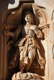 Molded plaster sculpture, Church of Santa Clara