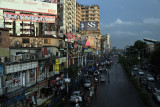 Mirpur Road after the rains, Dhaka