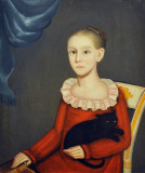 Ammi Phillips, Girl with Cat, ca 1814