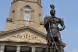 Chief Tshwane statue in front of Pretoria City Hall