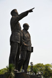 Soekarno and Hatta after which the Jakarta Airport in Cenkareng is named