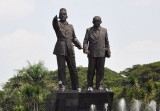 Soekarno and Mohammad Hatta, founding fathers of modern Indonesia