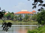 Sheraton Bandara Hotel across the southern stilling basin at Soekarno-Hatta Airport, Cenkareng
