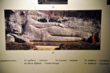 Photograph of the Reclining Buddha of Gal Viharaya at Polonnaruwa, Colombo National Museum