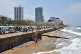 View looking south from the Galle Face Pier