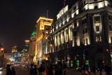 North end of the Bund at night, Shanghai