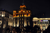 The north end of the Bund at night, Shanghai