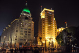 Palace Hotel and the slightly taller Bank of China