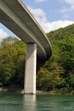 Road bridge over the Rhein at Heimshofen (CH), downstream from Stein am Rhein