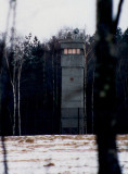 Watch tower on the East German Border