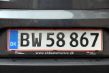 New-style Danish license plate