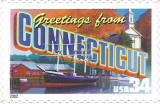 Greetings from Connecticut USA Postage Stamp
