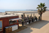 The beaches of Barcelona are lined with little restaurants and beach bars like this