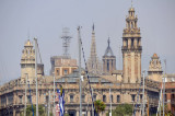 The towers of Barcelona's Gothic Quarter (old city) from across Port Vila