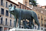 Copy of the famous statue Capitoline Wolf with  Romulus & Remus