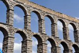 Double arches of the Aqueduct of Segovia