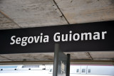 High speed trains stop at the new Segovia Guiomar, a 10 minute bus ride (€0.93) from the city center
