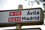 The road from Segovia to Ávila