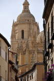 View of Segovia Cathedral from Calle de Juan Bravo