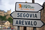 Road sign - Carratera de Zamarramala, Segovia