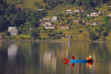 Canoe on Lake Phewa, Pokhara, Nepal