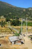 A pedestrian suspension brige, Mahadevbesi, Nepal