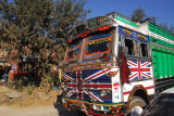 Nepali truck painted with the Union Jack