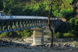 Trisula (Trishuli) River bridge leading north to Dhading, what the driver called Maoist Country