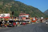Prithvi Highway, the main street of Mugling, Nepal