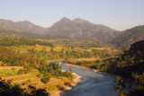 Marsyangdi River with what I believe is Manakamana