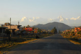 Prithvi Highway leading towards the Annapurna Range approaching Pokhara