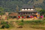 Traditional Nepali farmhouse, between Pokhara and Damauli