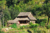 Small thatched cottage between Damauli and Dumre, Tanahu