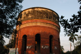 An old red brick watertower, Dhaka