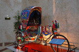 Bangladeshi rickshaw on display in the lobby of the Dhaka Sheraton for those who won't venture outside