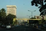 Waslow Tower sticking up on the west side of Kazi Najrul Islam Avenue, Dhaka