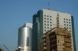 Pantha Path, Dhaka-Tejgaon with the UTC Building and the new tower at Bashundhara City Mall