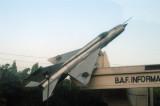 Bangladesh MiG-21 on static display in front of Tejgaon Airport, Dhaka