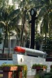 Torpedo on display in front of Bangladesh Naval HQ, Dhaka