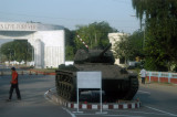 Dhaka Cantonment Gate with a tank on display along New Airport Road