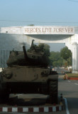 Heroes Live Forever - Cantonment Gate with a tank