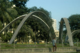 Sculpture along New Airport Road at the Zia Colony Gate