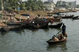 Rustic scene of life along the banks of the Buriganga River, Dhaka