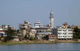 Minaret in Dhaka-Shyampur along the Buriganga River (N23 41.146/E090 26.012)