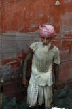 In Bangladesh, manual labor is cheaper than a crane...