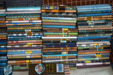 Big selection of men's sarongs, Fatulla Market, Bangladesh
