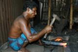 Bangladeshi blacksmith at work, Fatulla