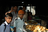 Wandering the Fatulla market with the school boys tagging along
